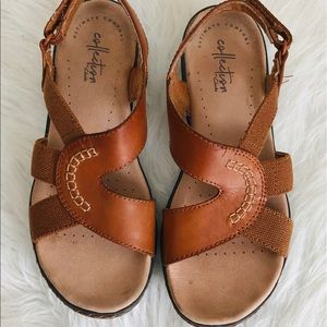 Clarks Brown Leather Ultimate Comfort Sandals